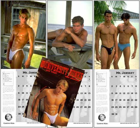 University Hunks Calendar