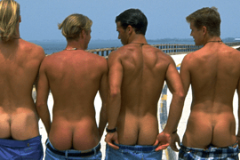 University Hunks Hold a Butt Contest for a Radio Station